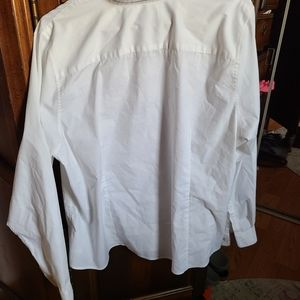White lands end button down